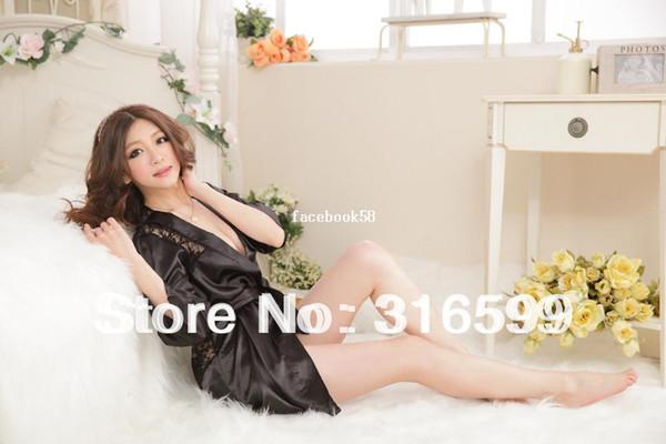 белье Бесплатная доставка сексуальные костюмы для женщины прекрасный черный ночная рубашка Сексуальная очаровательная пижамы Оптовая челнока сексуальные пижамы US1584