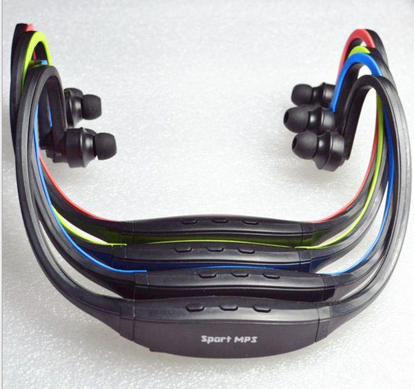 Sport Gym Running casque Lecteur MP3 sans fil avec TF carte mémoire Slot Wrap Around écouteurs lecteurs écouteurs Radio FM Livraison gratuite