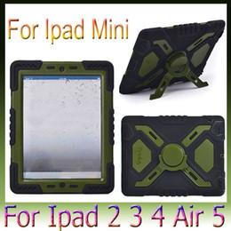 Wholesale Ipad Military - Pepkoo Military Heavy Duty Case Apple for iPad 4 5 6 Air 2 mini 1 2 3 Retina Retina Defender new in Box