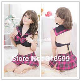 Wholesale Sexy Adult Babydoll - lingerie Free Shipping Sexy Adult Girls Costume Sexy Short Skirt Suit Sexy Girl Image Skirt Wholesale Dropshipping US1562