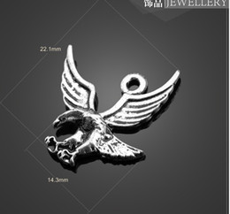 Wholesale Eagle Wing Charms - 13056 vintga eagle stretched its wings Charms Necklace Pendants earrings Pendants DIY Charms Jewelry Findings & Components for free shipping
