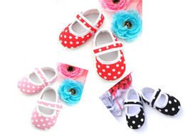 Wholesale Baby Shoes Online - 8%off!discount shoes!OUTLETS!Korea!Fashion!Dot shape!Baby soft bottom toddler shoes!cotton!DROP SHIPPING!CHEAP!shoes online!6pairs 12pcs.WL