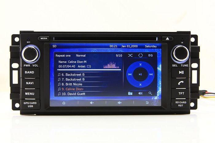 2-Din unidade de cabeça do carro dvd player para calibre dodge journey com navegação GPS rádio bluetooth tv usb sd aux áudio estéreo de áudio sat nav