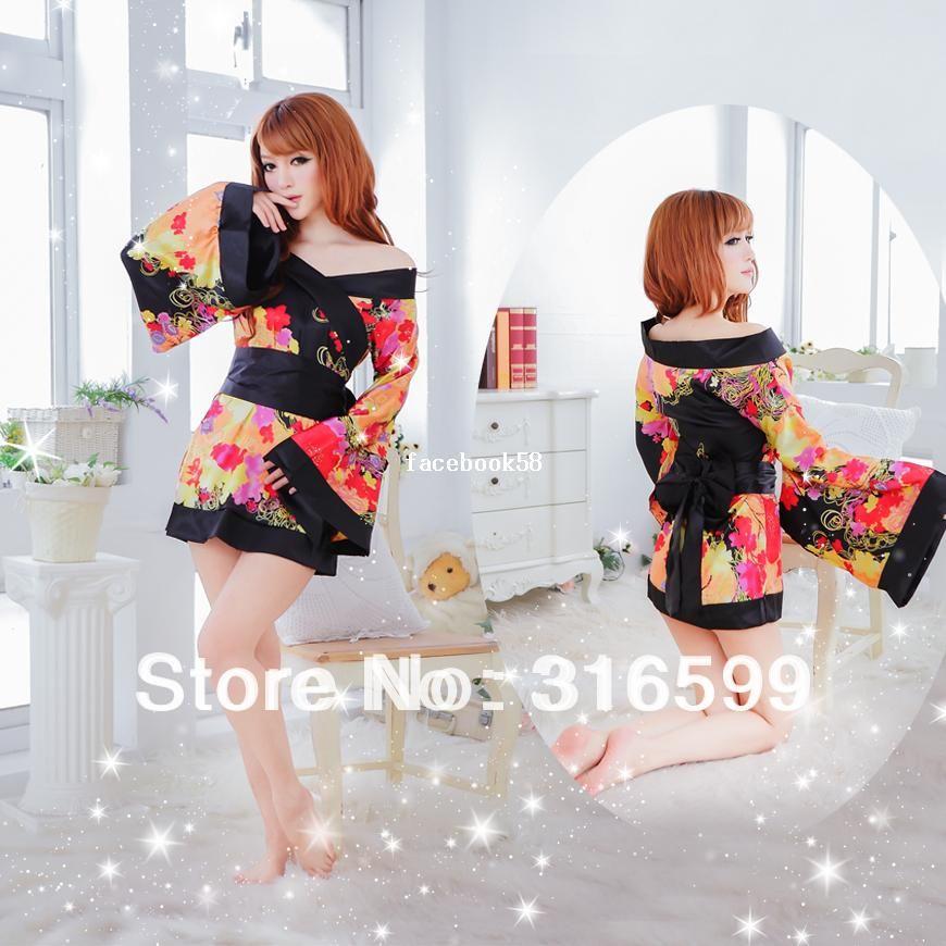 1c225ee0de5c7 lingerie Free Shipping Japanese kimono dresses girls sex image baby doll  costume japanese sexy teacher kimono Wholesale Drop ship US1674