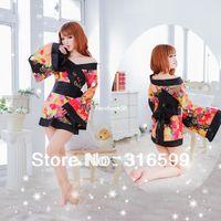 japanische kimono sexy dessous großhandel-Wäsche Freies Verschiffen japanischer Kimono kleidet Mädchengeschlechtsbildbabypuppekostüm japanischer reizvoller Lehrer Kimono Großhandelstropfenschiff US1674