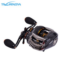 Wholesale Trulinoya Reels - Trulinoya TS1200 14BB 6.3:1 Left Right Hand Bait Casting Fishing Reel Reels 13Ball Bearings One-way Clutch Black H10308