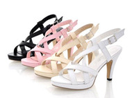Wholesale White Fashion Heels Korean - 2014 Summer new Korean high-heeled nude color womens' sandals