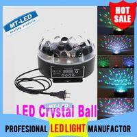 Wholesale Digital Led Stage Lighting - Free Shipping Mini Digital LED RGB Crystal Magic Ball Effect Light DMX512 Disco DJ Stage Lighting Voice-activated Wholesale light lamp