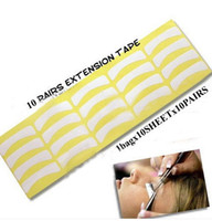 Wholesale Eyelash Extension Medical Tape - New Arrival 100 Pairs Individual Lash Extension Eyelash Tape Supply Medical Tool Makeup Styling Eye Pad Freeshipping