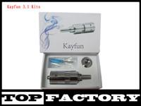 Wholesale E Cig Vmax - New Kayfun Kit 3.1 kit Kayfun Atomizer E Cigarette Clearomizer Control Bottom For E Cig Mod Like Hammer King Maraxus Nemesis Tesla Vmax