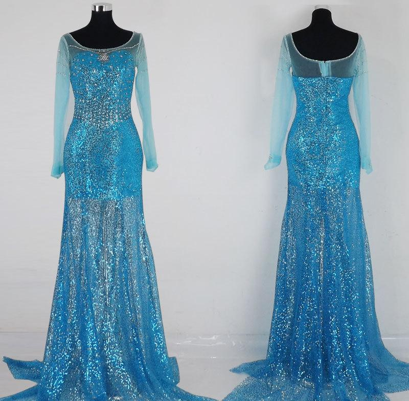 Movie Frozeu0027N Snow Queen Elsa Costume Adult Princess Cosplay Carnival Halloween Costumes For Women Fantasy Dress Custom Funny Group Halloween Costumes 3 ... & Movie Frozeu0027N Snow Queen Elsa Costume Adult Princess Cosplay ...