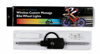 Wholesale Bicycle Computer Led - Waterproof Cool Bicycle light CHT-0311 Computer programming wireless launch Intelligent digital Blue Led Bike Spoke Light for 3 x AAA batter