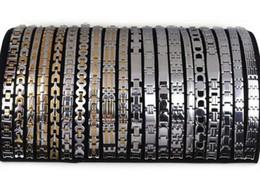 2019 coda fata del braccialetto I monili poco costosi di arrivo di nuovo arrivo 6pcs / lot abbelliscono i braccialetti bicolori degli uomini di fascino dell'acciaio inossidabile dell'oro oro Trasporto libero