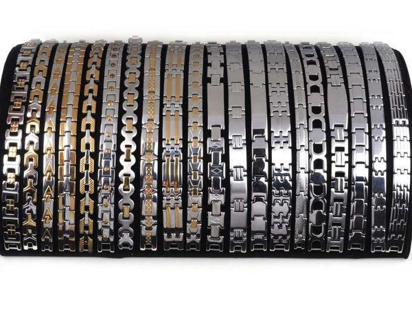 6 adet / grup Yeni Varış Ucuz takı Lots Altın Gümüş bicolor Paslanmaz Çelik Charm Erkekler Bilezikler Ücretsiz Kargo