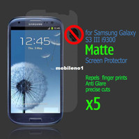 Wholesale S3 Screen Protectors - Hot Sale 5x Utlra Thin Matte Screen Protector Film For Samsung Galaxy S3 III i9300 Free Shipping