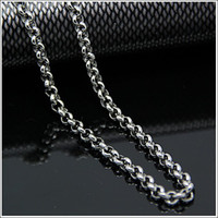 Wholesale Bead Necklace Bulk - 3.5mm 6mm Lot 5 Meters in bulk Jewelry Round ROLO Chain Finding Chain Stainless Steel , DIY Necklace Bracelet
