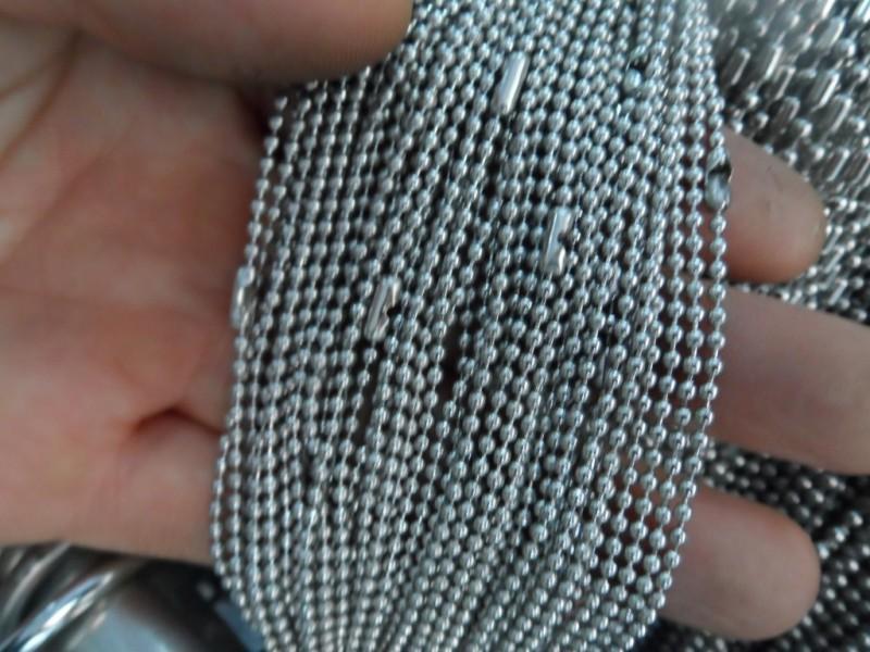 1.5mm / 2mm / 2.4mm / 3mm / 4mm / 6mm Lotto 5 Metri metri Sfera perline Catena gioielli Trova catena Acciaio inossidabile