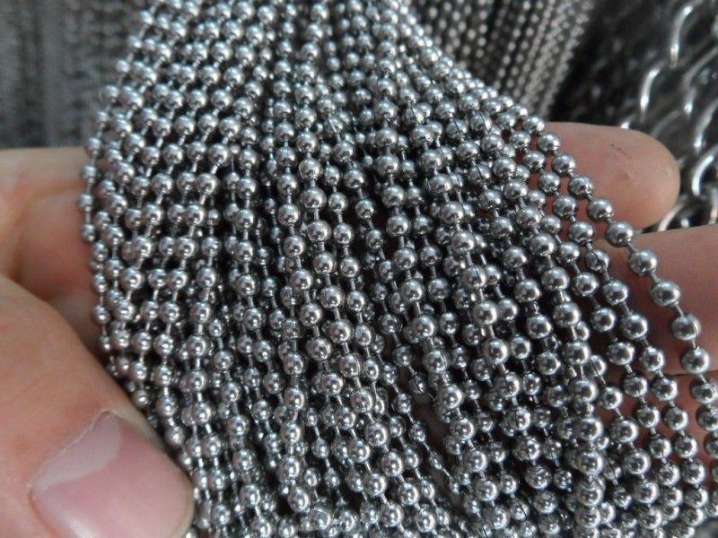 1.5 ملليمتر / 2 ملليمتر / 2.4 ملليمتر / 3 ملليمتر / 4 ملليمتر / 6 ملليمتر الكثير 5 أمتار الكرة الخرز سلسلة مجوهرات العثور سلسلة المقاوم للصدأ