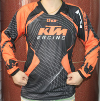 Wholesale Nylon Cycling Shirt - KTM motorcycle racing fox long sleeves t-shirts jersey motorcross bicycle biking cycling T shirts motorbike moto cycling clothing