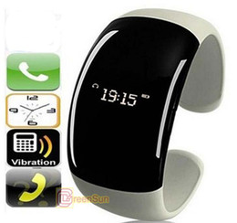 Wholesale Vibrating Bracelets Answer - Free 4 color Bluetooth Watch Bracelet with Caller ID display+vibrating alert +mobile phone anti-lose+digital clock display+music play