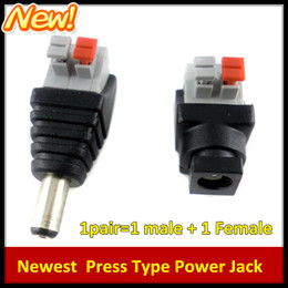 $enCountryForm.capitalKeyWord NZ - New Press Type 10 Pairs Male and Female 2.1x5.5mm DC Power Plug Jack Adapter Connector for CCTV No need Screws