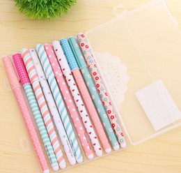 Wholesale Sets Gel Pens - 10 Pcs set Color Gel Pen Kawaii Stationery Korean Flower Canetas Escolar Papelaria Gift Office Material School Supplies G715