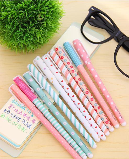 10 шт. / компл. цвет гелевая ручка Каваи канцелярские корейский цветок Canetas Эсколар Papelaria подарок офис материал школьные принадлежности G715