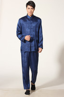 Wholesale Chinese Sale Suits - Free shipping 2016 new sale 5 color Chinese wushu uniform Kungfu clothing Taiji performance suit set chinese traditional clothes men M0049