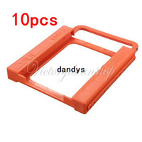 Wholesale Hard Drive Holder - New Hot Sale 10pcs lot SSD To HDD 2.5 to 3.5 Mounting Bracket Adapter Hard Disk Drive Dock Bay Holder Free Shipping,dandys