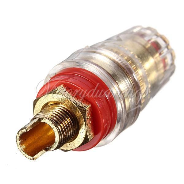 2 piezas Amplificador Altavoz Cable Terminal Terminal Enlace Adecuado para conector de enchufe de banana de 4 mm Envío gratuito, dandys