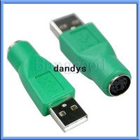 Wholesale Ps2 Usb Mouse Adapter - USB Male Socket to PS2 PS 2 Female Plug Adapter Convertor for Keyboard Mouse Mice Free Shipping Wholesale,dandys