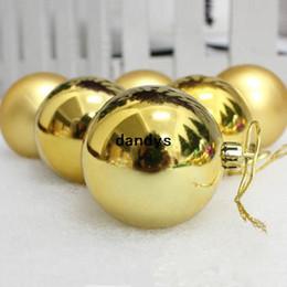 Il trasporto libero 6 pz / lotto 10 cm albero di natale baubles appeso lucido oro palle d'oro ornamenti scintilla pendenti disegno decorazione, dandys da
