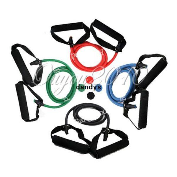 4 colores banda de resistencia estiramiento Fitness tubo de látex cuerda de cable para entrenamiento yoga ejercicio muscular herramienta de entrenamiento de belleza, dandys