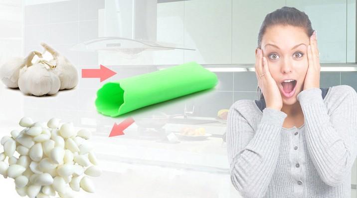 Vendite calde Nuovo creativo in silicone Aglio Peeler Peel Facile strumento di cucina Aglio Peeling Devices-peeling magico