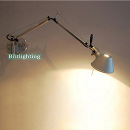 Wholesale Adjustable Light Arms - Swing-arm lighting task lighting Adjustable Work Lamps Extending Wall Mounted Bedside Wall Lighting LED Reading Lights with switch sconces