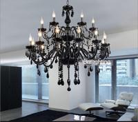 ingrosso lampadario in vetro nero murano-Lampadario in cristallo nero in vetro di Murano Lampadari moderni lampadari in vetro nero lampadari di cristallo