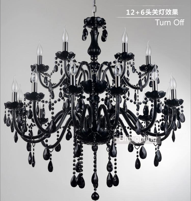 Черный муранского стекла хрустальная люстра свет современные черные люстры ресторан люстра стеклянная свеча люстры хрустальный шар люстра