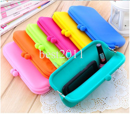 Wholesale Silicone Rubber Pouches - Candy Colors Pochi Waterproof Silicone Sunglasses Pouch Soft Eyeglasses Bag Glasses Case Rubber coin purse multicolor free choice