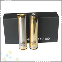 Wholesale Ecig Gift Boxes - Vaporizer Caravela Mod Ecig Full Mechanical Clone Mod with gift box 2 tubes high quality DHL Free