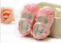 Wholesale Shoes Soft Inside - GXR Baby Shoes Spring Summer Soft Lace Rose Flower Toddler Shoes First Walker Princess Shoes Inside:12-12.5-13-13.5CM 4Pair lot GX147