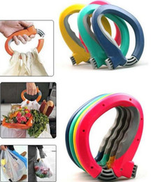 Wholesale Fashion Clothes Shopping - Fashion Hot Soft One-Trip Grip Handle Shopping Bag carry device Convenience locks bags
