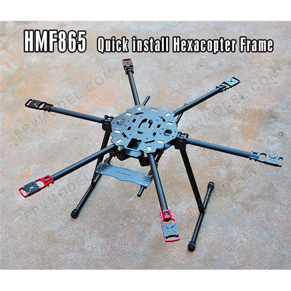 Hmf865 6 Axis Carbon Fiber Folding Hexacopter Frame Kit Building ...