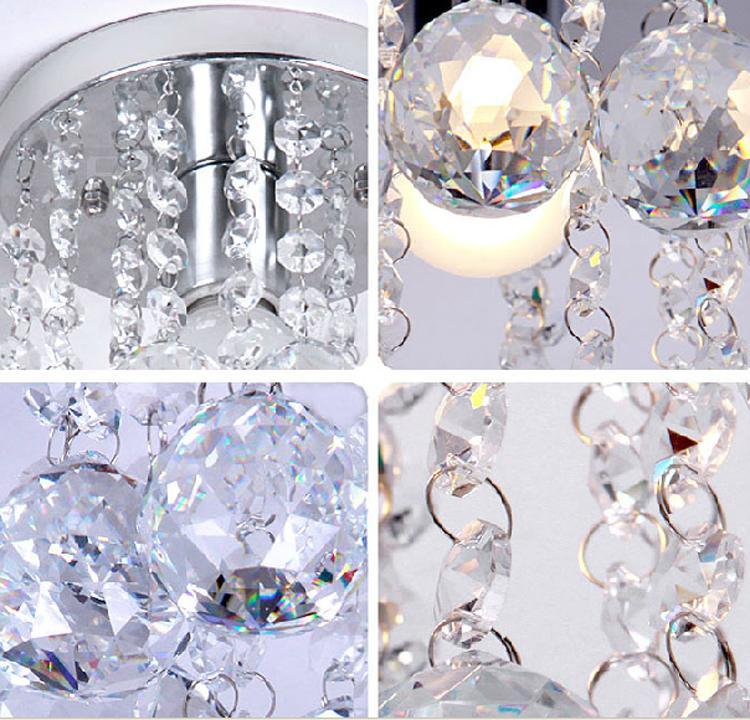 Tavan ışıkları Modern kristal gömme sundurma ışık mini kristal aydınlatma vestibül aydınlatma tavana monte led sundurma aydınlatma LED adım ...