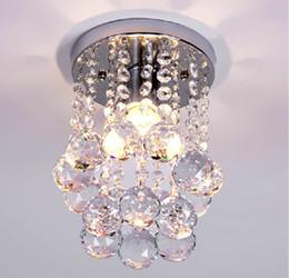 2020 luzes de passo modernas Luzes de teto Modern cristal resplendor alpendre luz mini iluminação de cristal vestíbulo de iluminação montado no teto led varanda iluminação led luzes da etapa luzes de passo modernas barato