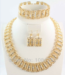 Wholesale Settings For Jewellry - Free shipping hot sale african costume Jewelry set necklace bracelet earrings ring set jewelry gift jewellry set for women
