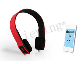 Wholesale Bluetooth Bh - Portable Bluetooth Stereo Headsets with Microphone Answer Calling for iphone SamSung LG htc Android Smart Phones BH-504 bluetooth headphone