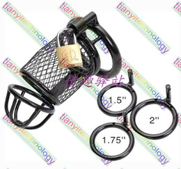 Wholesale Chasity Cock Cages - Stainless Steel Lockable Chastity Devices With Ring Chasity Belt Cock Ring Cock Cage Penis Ring Cage Stainless Steel Belt Chrome Cock Cage