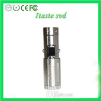 Wholesale Steel Tube Voltage - New Original Innokin iTaste SVD Kit Stainless Steel Variable Voltage Wattage Telescopic Tube Mechanical Mod With LED Screen