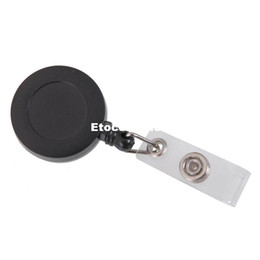 Plastic name badge online shopping - Retractable Reel ID Badge Key Card Name Tag Holders with Belt Clip for Keys ids badges Black