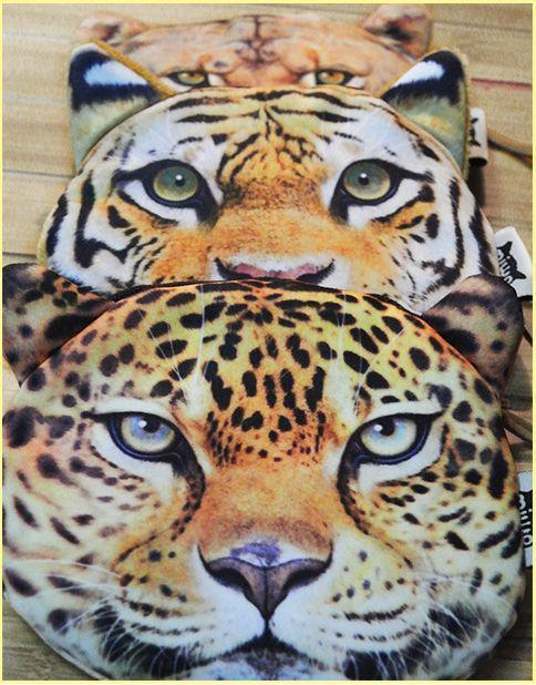 Yeni moda hayvan kafası Sikke çanta Kaplan Leopar Aslan çanta sikke fermuarlı kart çanta anahtar çanta Cüzdan Tutucular 100 adet / grup
